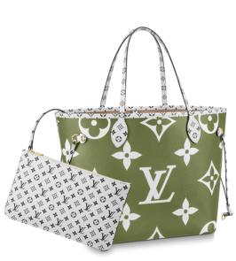 Louis Vuitton Neverfull MM in Khaki